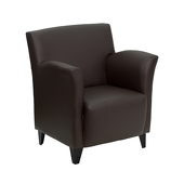 UltraLounge™ Conventional Leather Reception Chair - Brown