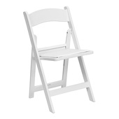 FirmFold™ Resin Folding Chair w/ Vinyl Padded Seat - 1000 lb Capacity - White