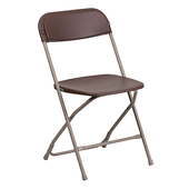 Feather XT™ Plastic Folding Chair - 800 lb Capacity - Brown