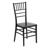 EnvyChair™ Elegant Resin Chiavari Chair - Black