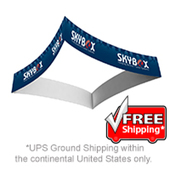 "12ft Diameter by 60""H Square Curved Hanging Banner COMPLETE KIT"