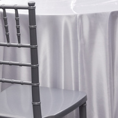 WHITE - Deco Satin Tablecloth by Eastern Mills - Size Options