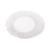 DecoStar™ Silver Rimmed Sponge Glass Round Charger Plate 12.6