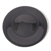 DecoStar™ Black Glass Round Charger Plate 12.6
