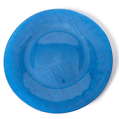DecoStar™ Blue Glass Round Charger Plate 12.6