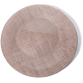 "DecoStar™ Coffee Glass Round Charger Plate 12.6"" - 4 Pack"
