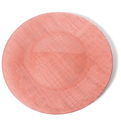 "DecoStar™ Coral Glass Round Charger Plate 12.6"" - 4 Pack"