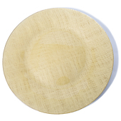 DecoStar™ Gold Glass Round Charger Plate 12.6