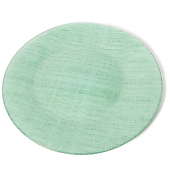 "DecoStar™ Green Glass Round Charger Plate 12.6"" - 4 Pack"