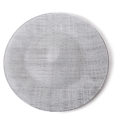 "DecoStar™ Gray Glass Round Charger Plate 12.6"" - 4 Pack"