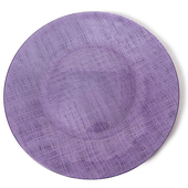 "DecoStar™ Purple Glass Round Charger Plate 12.6"" - 4 Pack"