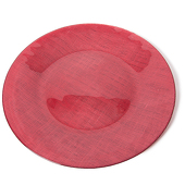DecoStar™ Red Glass Round Charger Plate 12.6