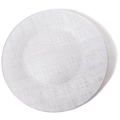 DecoStar™ Silver Glass Round Charger Plate 12.6