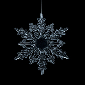 "DecoStar™ 6"" Acrylic 6 Point Snowflake Ornaments-Set of 6"