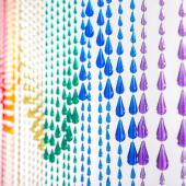 DecoStar™ 6ft Rainbow Iridescent Raindrop Curtain