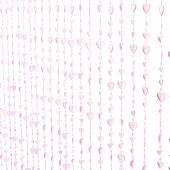 DecoStar™ 6ft Pink Iridescent Heart Shaped Beaded Curtain