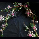 DISCONTINUED - DecoStar™ Acrylic Flower Garland - Crystal Flowers w/ Pink Beads