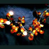 DecoStar™ PVC Garlands w/ Beads - Amber