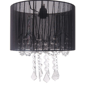 DecoStar™ Black Fabric & Crystal Chandelier