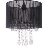 DecoStar™ Black Fabric & Crystal Chandelier