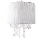 DecoStar™ White Fabric & Crystal Chandelier