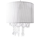 DecoStar™ White Fabric & Crystal Chandelier
