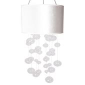 DecoStar™ Glass Globe Chandelier in White or Black