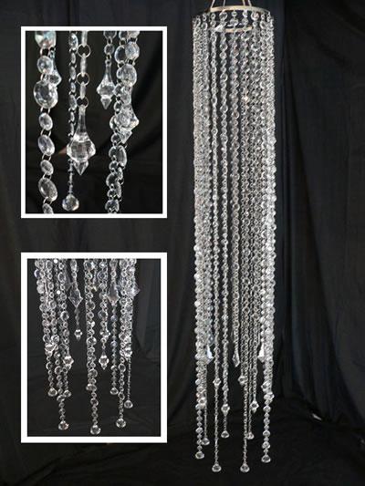 large acrylic beaded chandelier