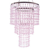 DecoStar™ Pink Gemstone Beaded Chandelier