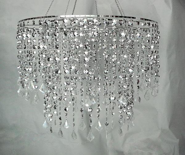 24 diameter multi diamond cut chandelier silver decostar professional decor products learn more at decorstarco mozeypictures Image collections