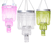 DecoStar™ Raindrop Beaded Chandelier in Pink, Lime and Crystal