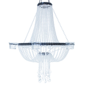 Empire Chandelier 6 Candle Holder - Crystal