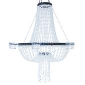 Empire Chandelier 6 Candle Holder - Crystal