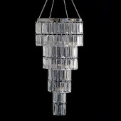 DecoStar™ 4-Tiered Acrylic Faceted, Emerald Cut Chandelier