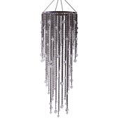 DecoStar™ Large Steel Grey Acrylic Drop Chandelier