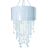DecoStar™ Small Crystal Acrylic Drop Chandelier With Removable Shade
