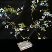 DecoStar™ Crystal Beaded LED Lighted Garlands w/ Battery Pack