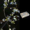 Crystal Beaded LED Lighted Garlands w/ Battery Pack