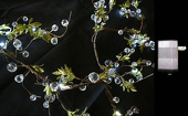 DecoStar™ Crystal Beaded LED Lighted Garlands w/ Wall Plug