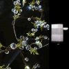 Crystal Beaded LED Lighted Garlands w/ Wall Plug