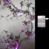 DISCONTINUED - DecoStar™ Pink Beaded Lighted LED Garlands w/ Wall Plug