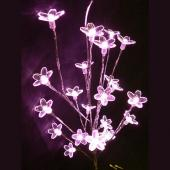 DecoStar™ Blooming Crystal LED Lighted Branch - AC Powered - Pink