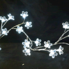 Blooming Crystal LED Lighted Garland - White