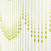 DecoStar™ 6ft Lime Green Iridescent Raindrop Curtain
