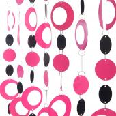 DecoStar™ 6ft Pink and Black Hip Circle PVC Curtain
