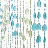 DecoStar™ 6ft Blue and Green Large Iridescent Diamond Curtain