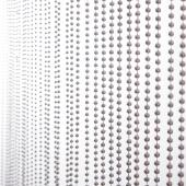DecoStar™ 6ft Faux Silver Ball Beaded Curtain