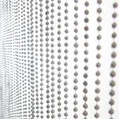 DecoStar™ 6ft Faux Metal Steel Ball Beaded Curtain