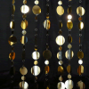8ft Tall Gold PVC Multi-Circle Curtain
