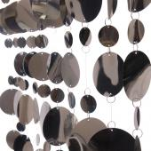 DecoStar™ 8ft Tall Silver PVC Multi-Circle Curtain
